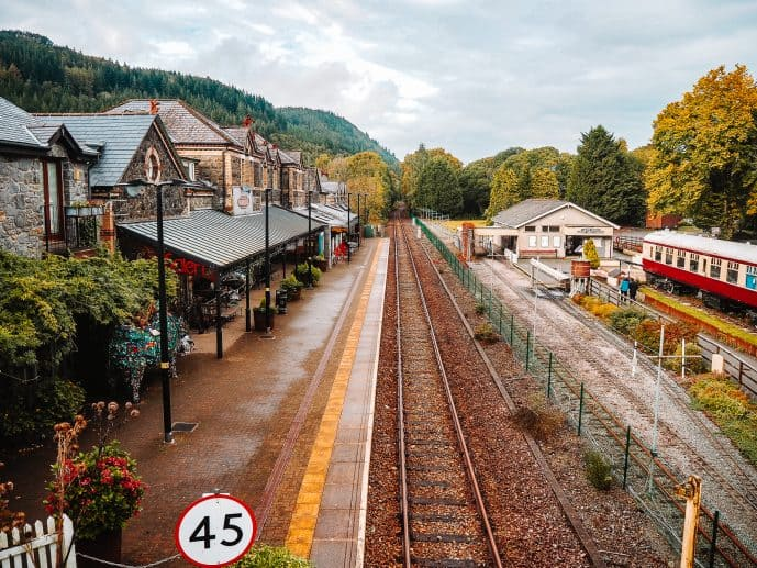 Betws-y-coed railway station and Conwy Valley railway museum
