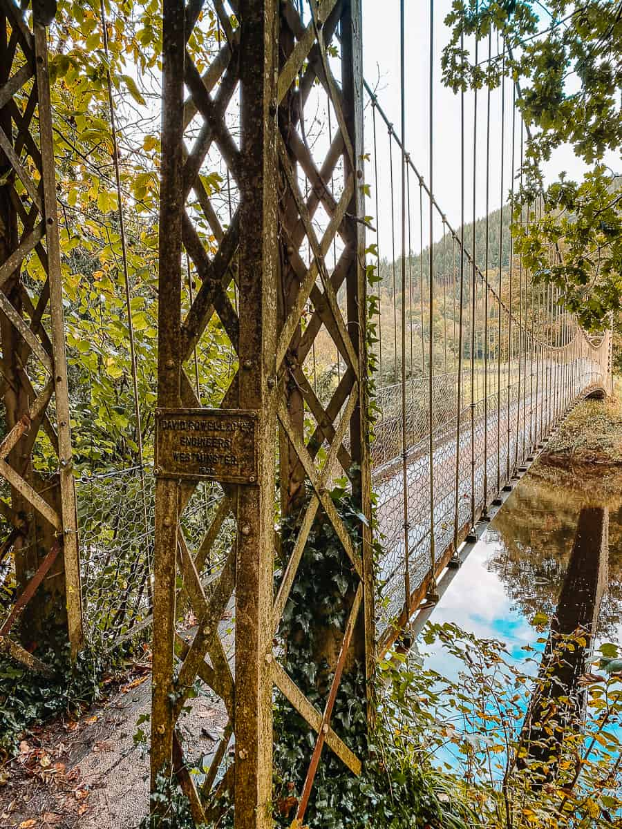 Sappers Suspension Bridge over the Afon Conwy River
