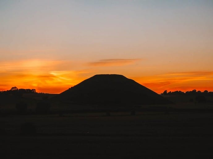 Silbury Hill at sunset