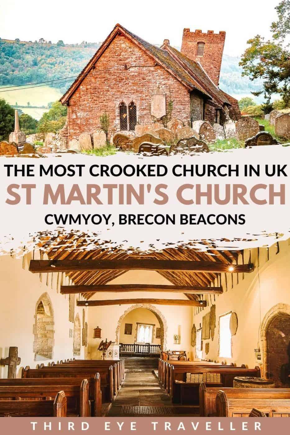 St Martin's Church Cwmyoy Crooked Church in Britain