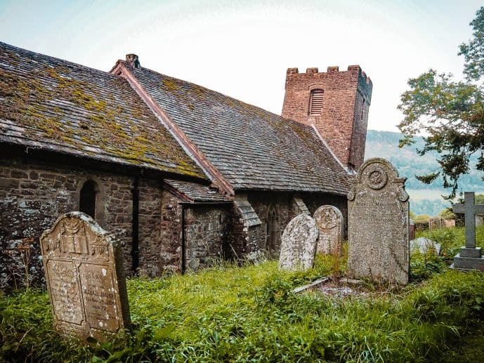 St Martin's Church Cwmyoy most crooked church in britain