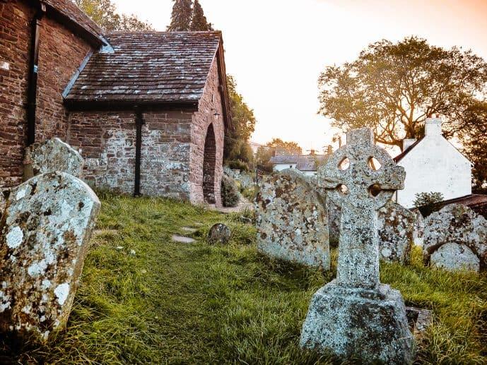 Cwmyoy Church Brecon Beacons