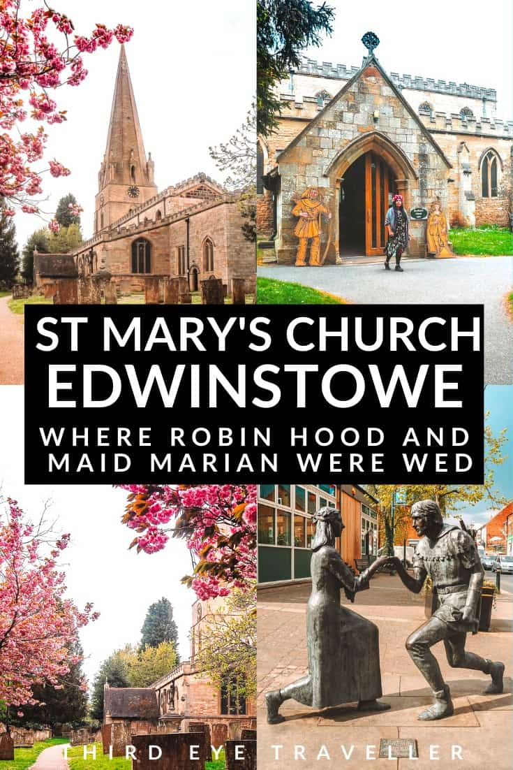 St Marys Church Edwinstowe Robin Hood and Maid Marian wedding location