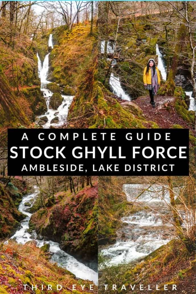 Stock Ghyll Force Waterfall in Ambleside
