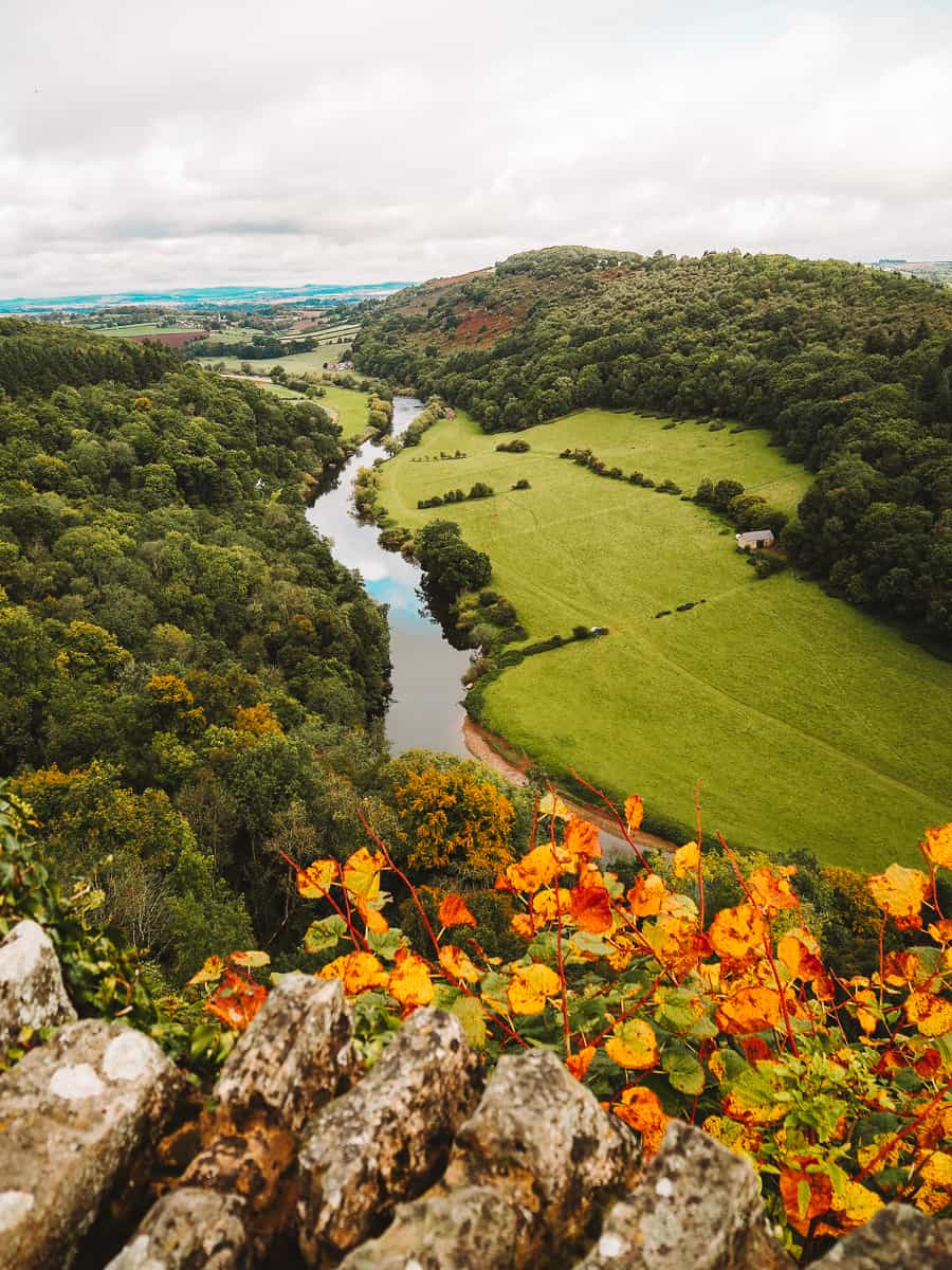 the views over Wye valley from Symonds Yat Rock viewpoint