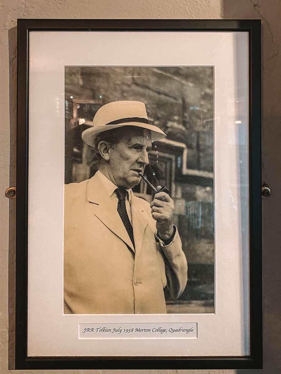 J.R.R. Tolkien photo at The Bell Inn Moreton in Marsh cotswolds