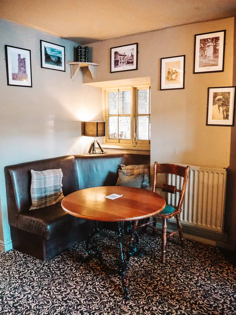The table that Tolkien used to sit at The Bell Inn Moreton in Marsh