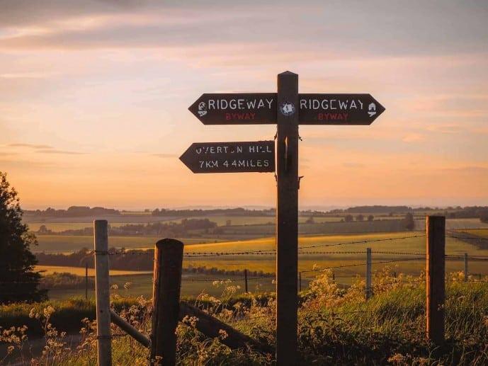 The Ridgeway Trail sign