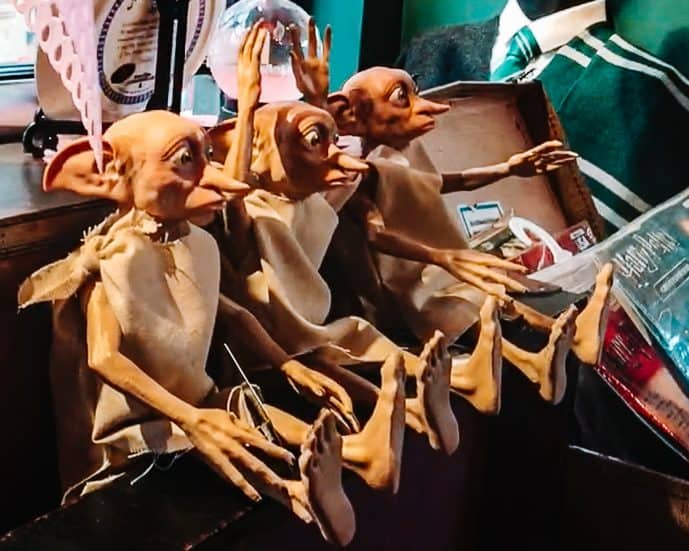 Dobby Toys at the Harry Potter Shop York
