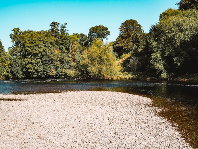 The river wye river bend at the warren hay on wye