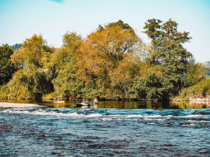 Kayaking at The wArren Hay on Wye