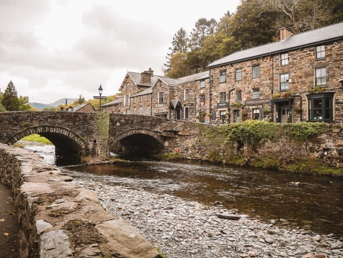 River Colwyn Bridge Beddgelert