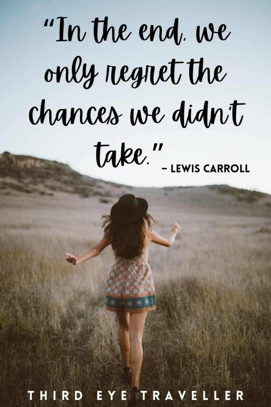 Solo Travel Quote Lewis Carroll Regret