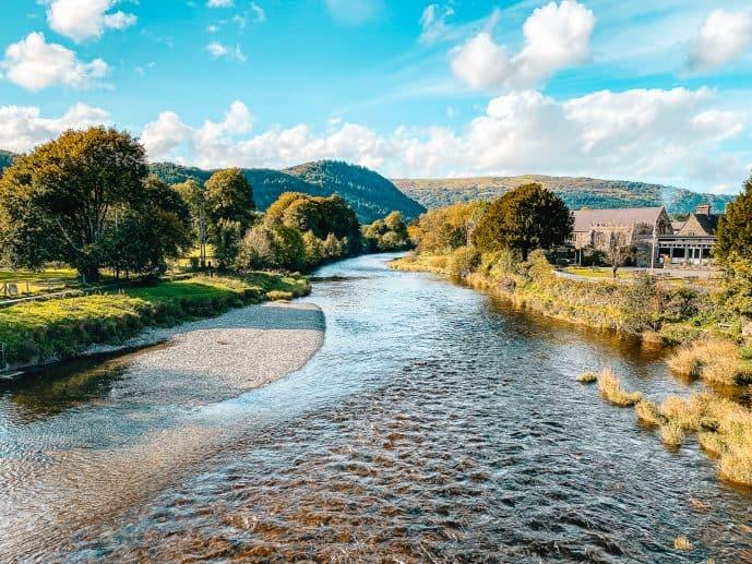 Llanrwst Views Conwy River Wales