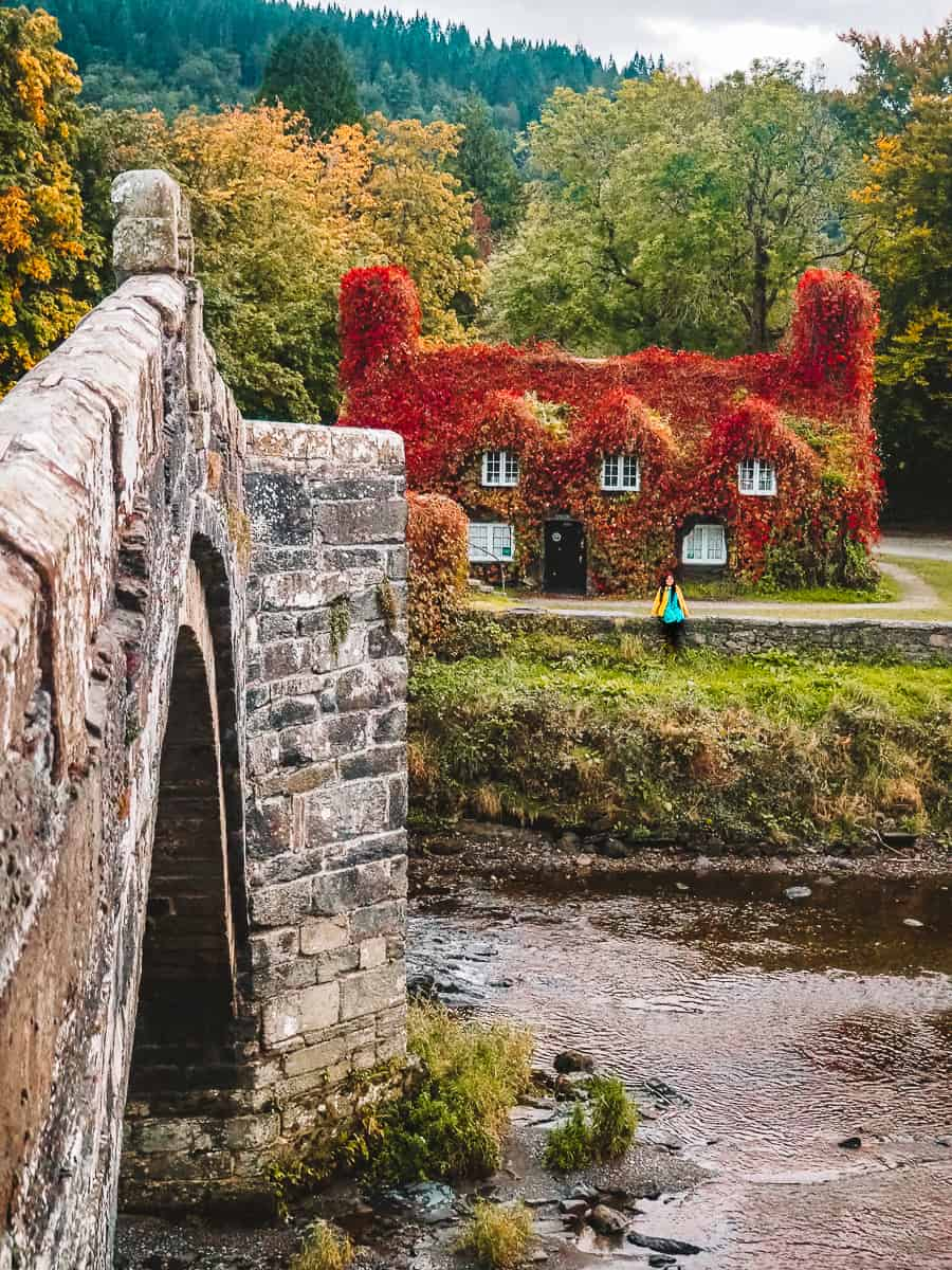 Red Leaf house in Wales
