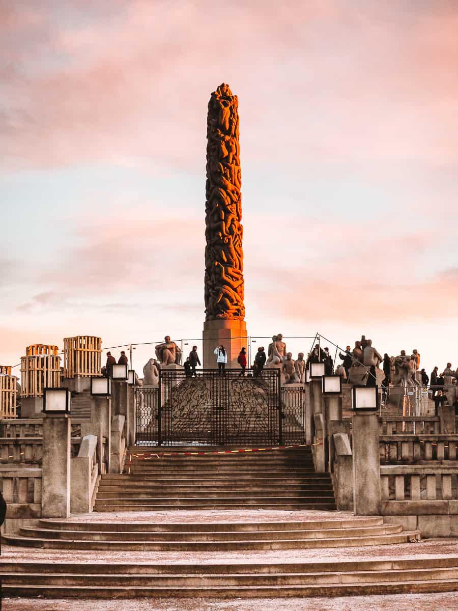 Vigeland Monolith at Frogner Park Oslo
