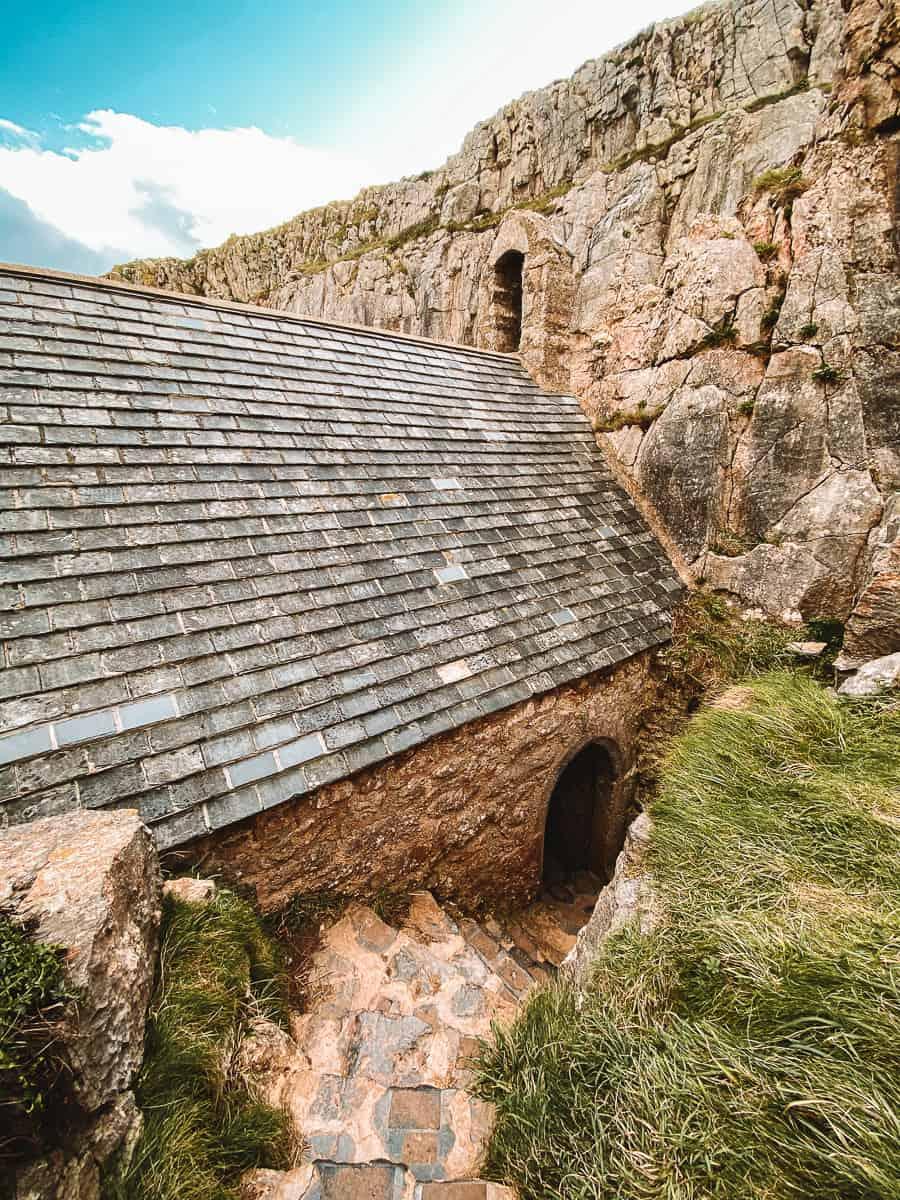 Inside St Govan's Chapel