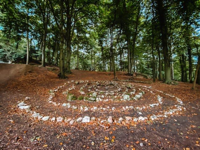 Labyrinth at King Arthur's Cave Wales