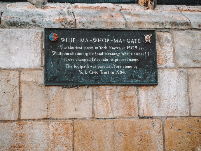 Whip-Ma-Whop-Ma-Gate Plaque on the St Crux Parish Room